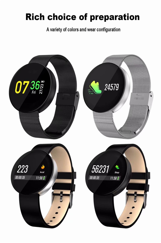Bracelet intelligent bande de Fitness pression artérielle moniteur de fréquence cardiaque montre sang oxygène couleur OLED écran bande intelligente étanche