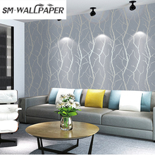 3d Design Embossed Flower PVC Wallpaper For Office Walls(China)