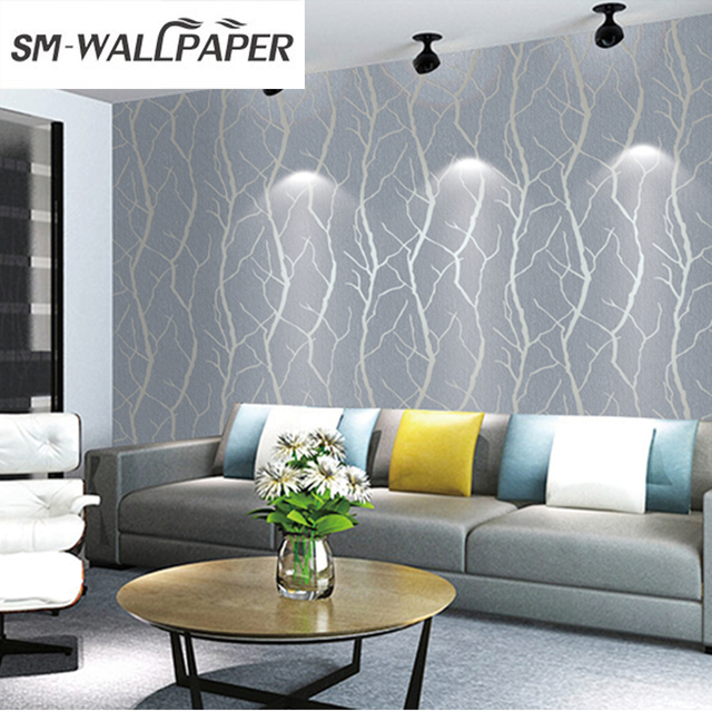 3d Design Embossed Flower PVC Wallpaper For Office Walls