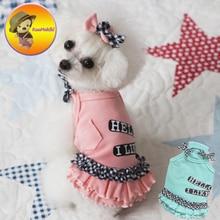 New Arrivals Spring Summer Dog Dress Dresses Pet Jean Skirt Skirts cat Clothing Supplies XXS-XL Dog Pet Apparel