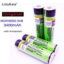 Original para Panasonic 2017 5 Pçs e lote Liitokala Proteção Novidade 18650 3400 Mah Ncr18650b Bateria Li-ion Recarregável 3.7 V
