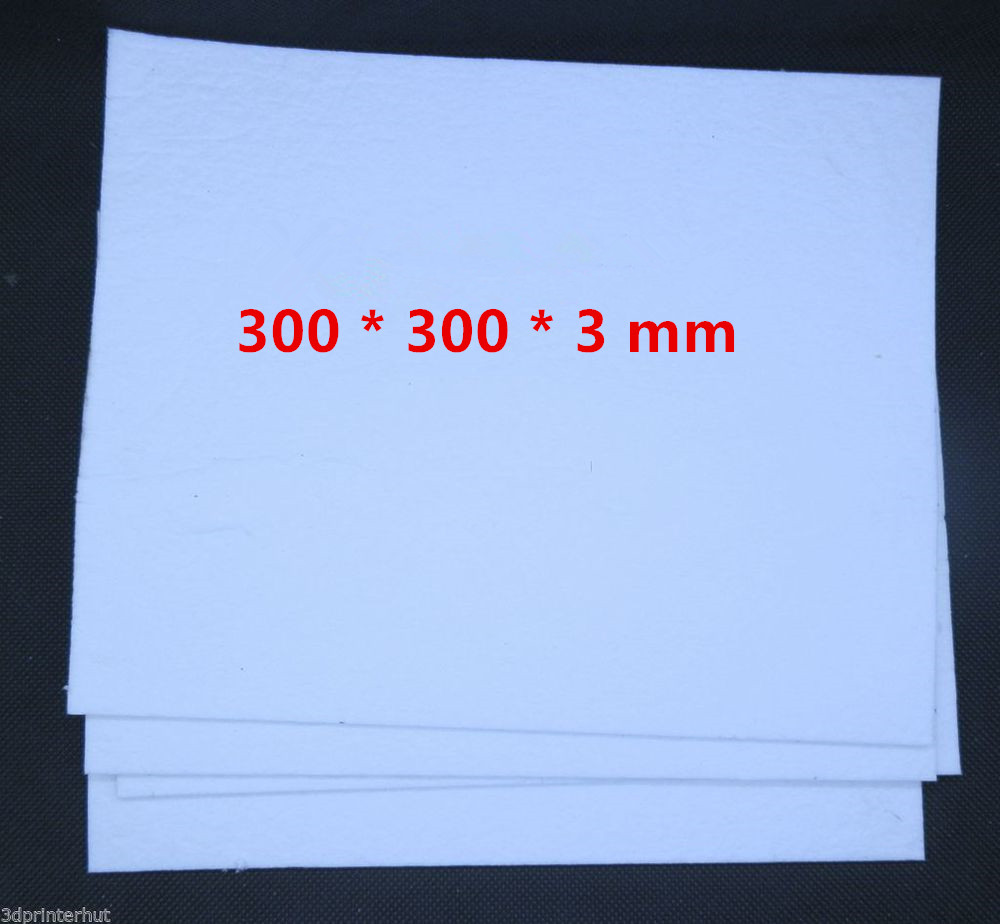 Funssor 4pcs300x300 Mm Insulation Cottons300*300*3 Mm Heated Bed Insulation Cotton For Reprap Prusa 3D Printer Heated Bed