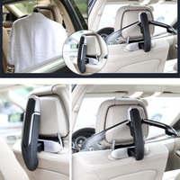 Car Coat Hanger Mutifunction Car Seat Back Clip Clothes Suit Jacket Slip Hanger Folding Vehicle Fastener Back Seat Coat Hanger
