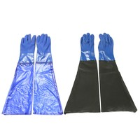 NEW 1 Pair Waterproof PVC Heavy Duty Chemical Handling Gauntlets Safety Work Gloves Workplace Safety
