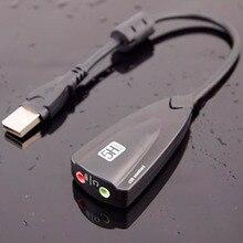 TISHRIC антимагнитный Внешний USB звуковая карта 7,1 адаптер 5HV2 3D Аудио гарнитура микрофон 3,5 мм для ноутбука ПК Профессиональный