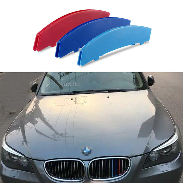 US $14 29 |For BMW 5 Series E60 Emblems auto accessories Front Grill Trim  Sport Strips car styling cover 3D M Motorsport Power Performance on