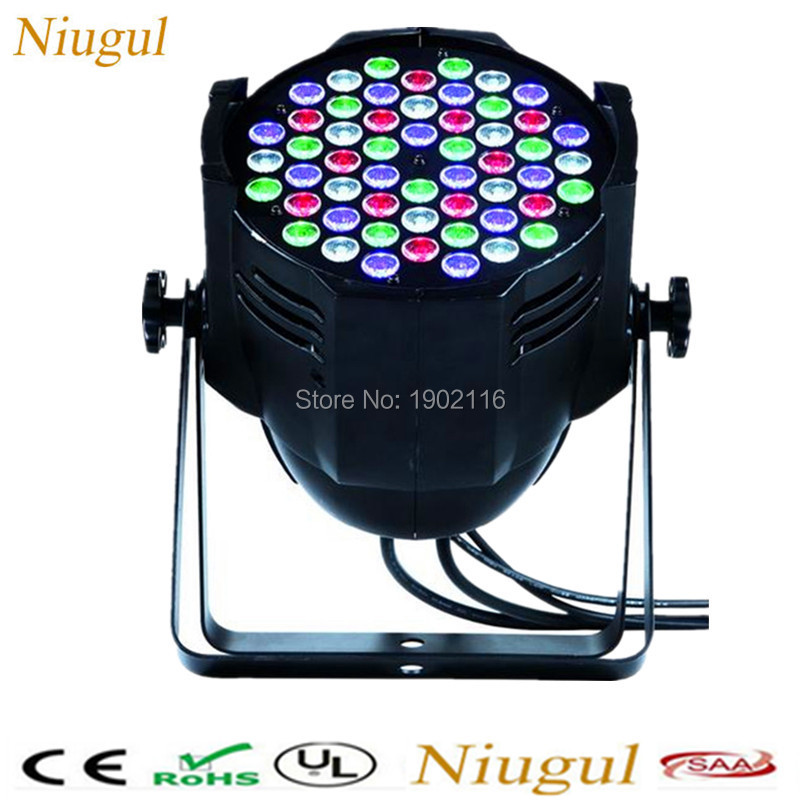 Niugul Best quality 54x3W Led Par RGBW Disco dj Light DMX512 DJ Controller Led Stage for home Party holiday lighting par led niugul led par light rgbw 54x3w stage light ktv dj disco lighting dmx512 strobe party wedding event holiday lights wash effect