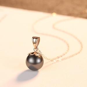 Image 3 - Настоящее чистое 18 К Золотое ювелирное изделие 6 цветов натуральный жемчужный кулон ожерелье s модное простое женское ожерелье