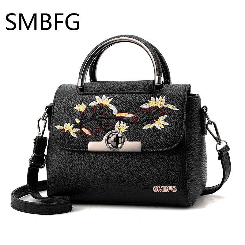 Bolso de cuero PU para mujer, bolso bandolera para mujer, bolsos de alta calidad, bolsos bordados para mujer