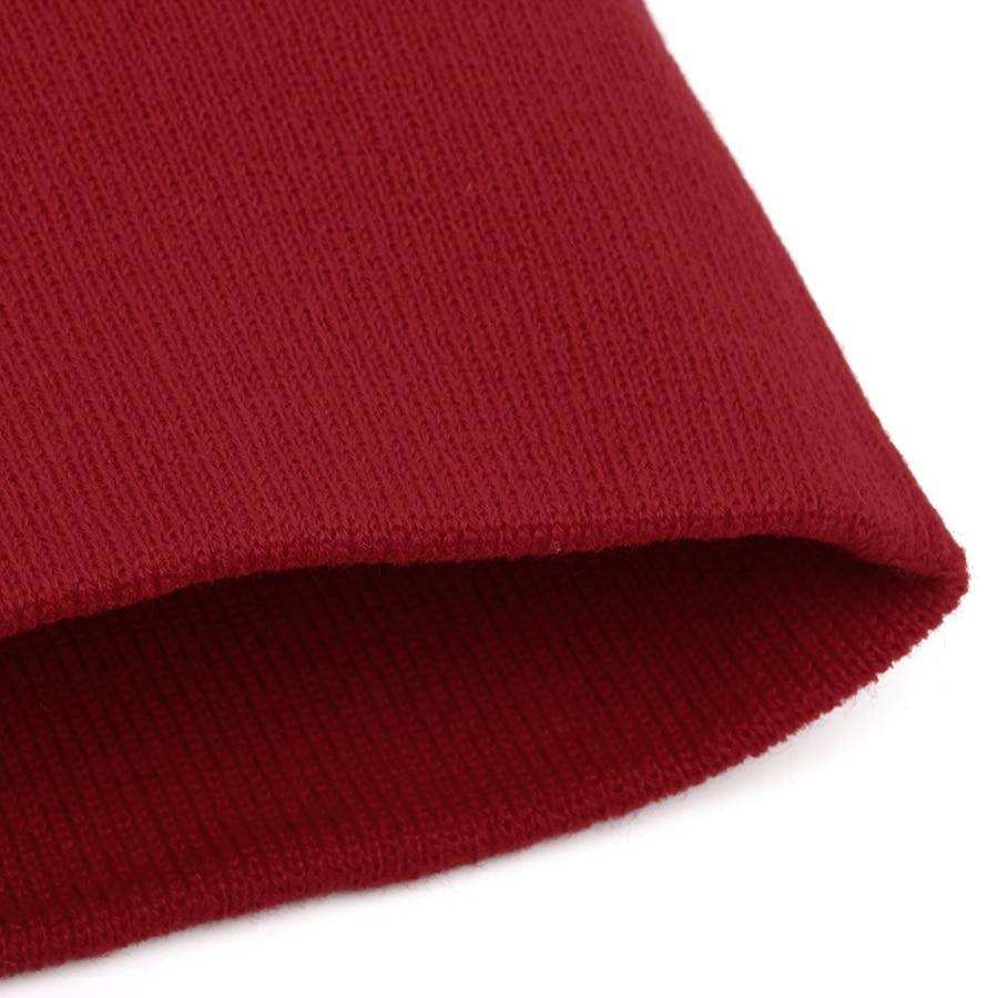 Hat Female Unisex Cotton Blends Solid Warm Soft HIP HOP Knitted Hats Men Winter Caps Women's Skullies Beanies For Girl Wholesale 5