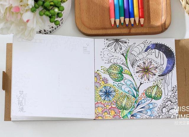 30 hojas Dreaming jardín libro para colorear para aliviar el estrés ...