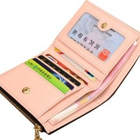 Mini Women S Purse Wallet Small Size Zipper Coin Purse Black Women Bag With Card Holder