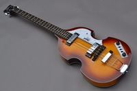 China guitar factory wholesale Brand new hofner bass 4 String Bass Sunburst color electric bass guitar free shipping 1 2