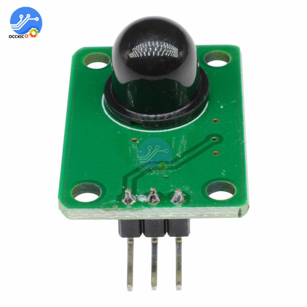 Sensor infrarrojo de detección de cuerpo humano PIR Módulo Sensor piroeléctrico de movimiento para Arduino con lente óptica IR 011050