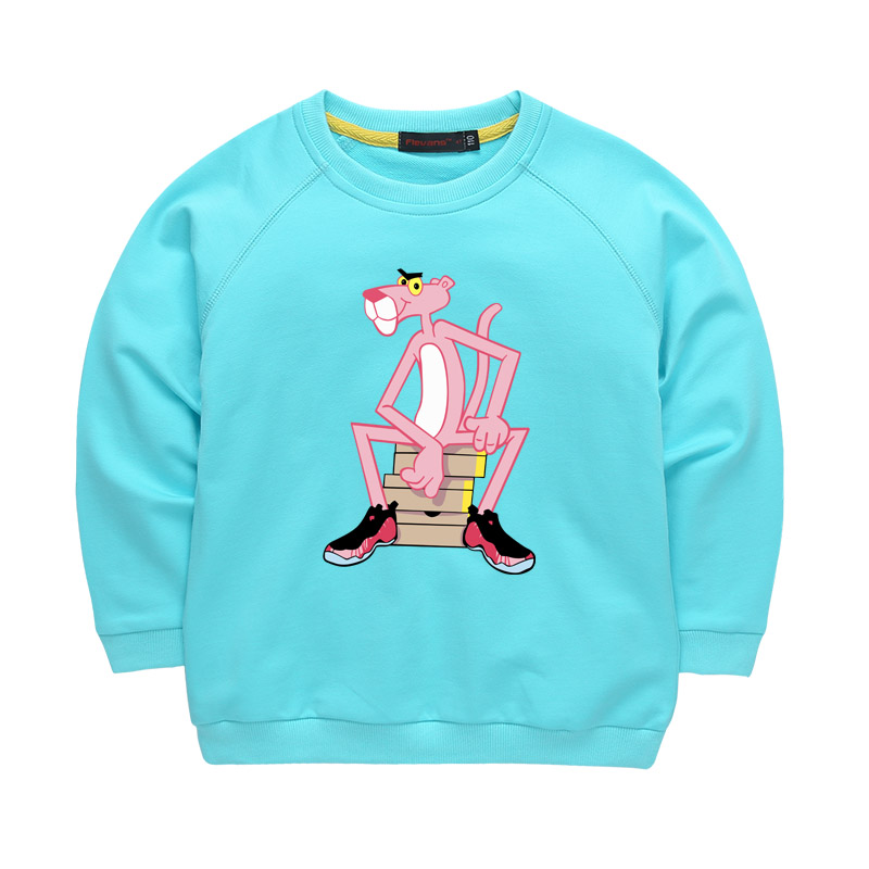 The Pink Panther Cartoon Cotton Hoodies Long Sleeve T