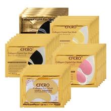 EFERO 50pair=100pc Crystal Collagen Eye Mask Gold Eye Patches Mask Dark Circle Anti-Puffiness Anti-W