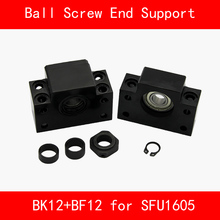 BK12+BF12 Set : 1 pcs BK12 and 1 pcs BF12 for SFU1605 Ball Screw End Support CNC parts 3d print BK/BF12 ball screw sfu1605 250 to1500mm end machine with bk12 bf12 end support bearing mounts