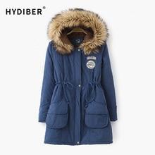 2015 Plus Size Women Winter Jackets Cotton Padded Female Version Long Section Cashmere Coat Winter Jackets XXL XXXL Z9