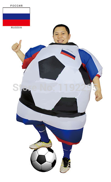 Football Inflatable Costumes World Cup Costumes Russia Soccer ball Costume  Brasil Public Viewing Halloween Costume For adults dadbaddbfd05