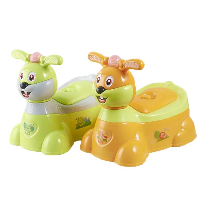 Trainer Bebê Higiênico bebê Higiênico Coelho Dos Desenhos Animados Crianças Musicais de Plástico Meninas Menino Confortável Toilet Potty Potty Viagem das Crianças