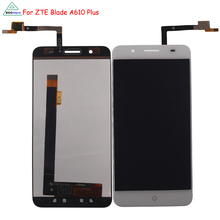 цена на For ZTE Blade A610 plus LCD Display Touch Screen Digitizer Assembly Phone Parts For ZTE Blade A610 plus Screen LCD Display