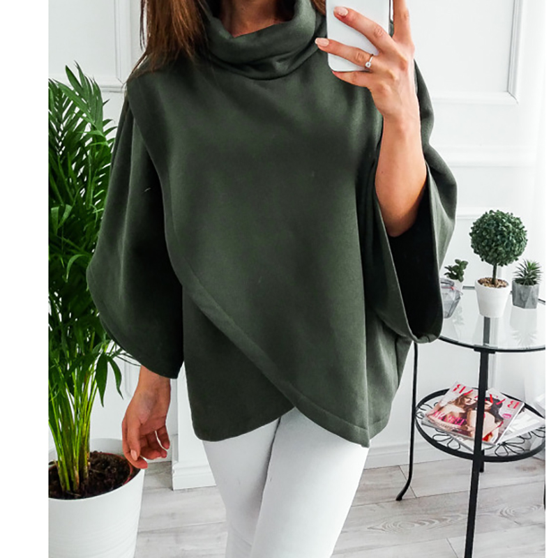 2018 Female Plus Size Winter Hoodies Harajuku Tracksuit Pullover Outerwear Jacket Women Batwing Sleeve Autumn Sweatshirts GV018