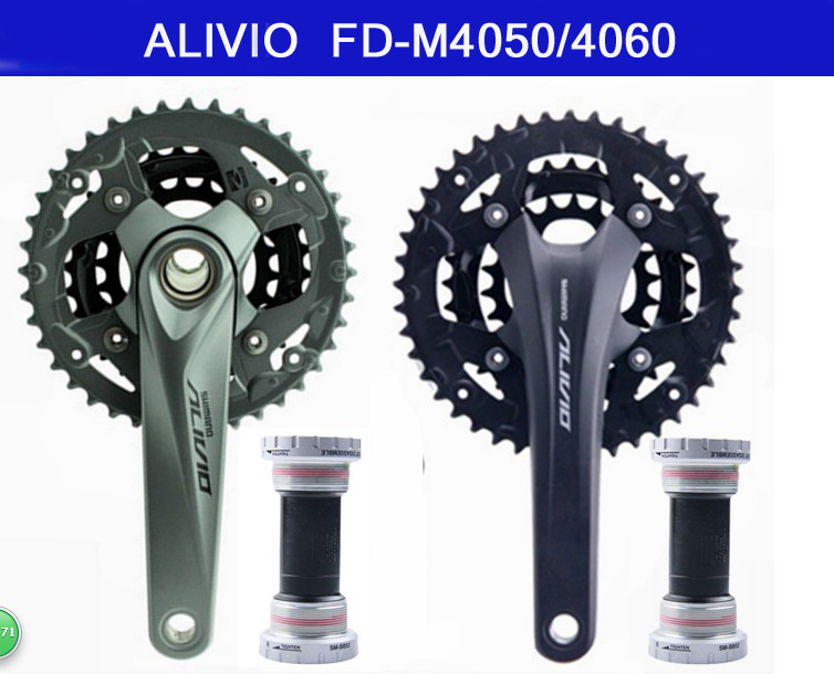 SHIMANO ALIVIO 4000 4050 4060MTB Mountain Bike Crank Gear Set Bicycle Parts Including BB51 Central 44