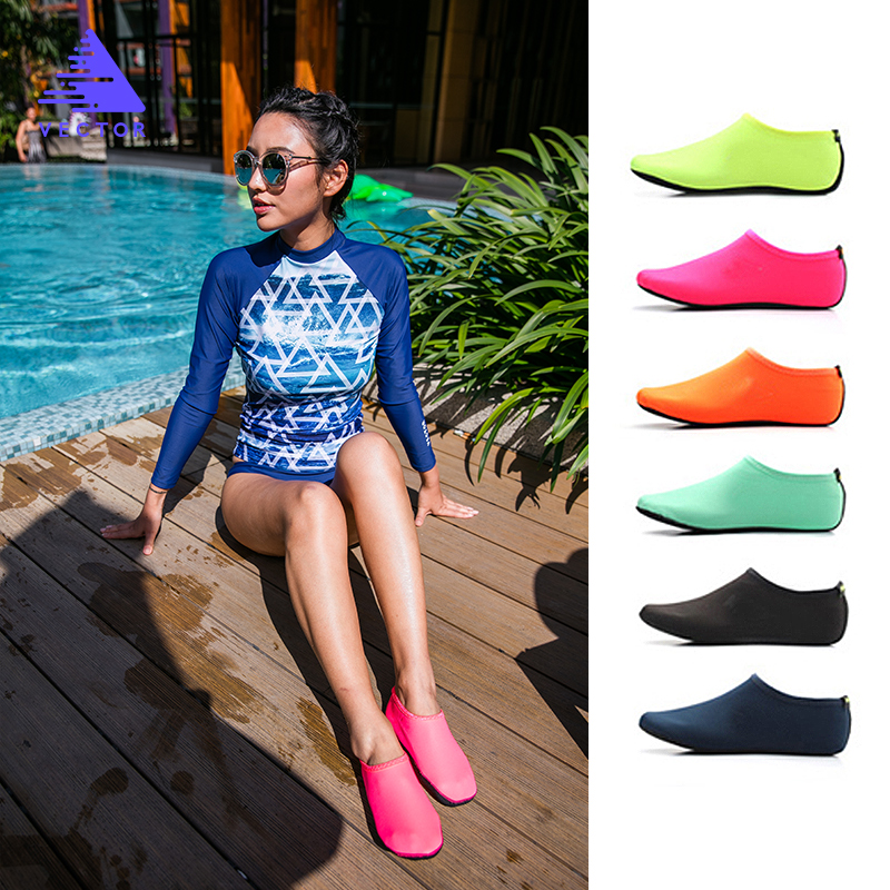 Men Women Water Shoes Outdoor Swimming Snorkelin Beach Shoes Flat Soft Quick Drying Sneakers Walking Antiskid Sole