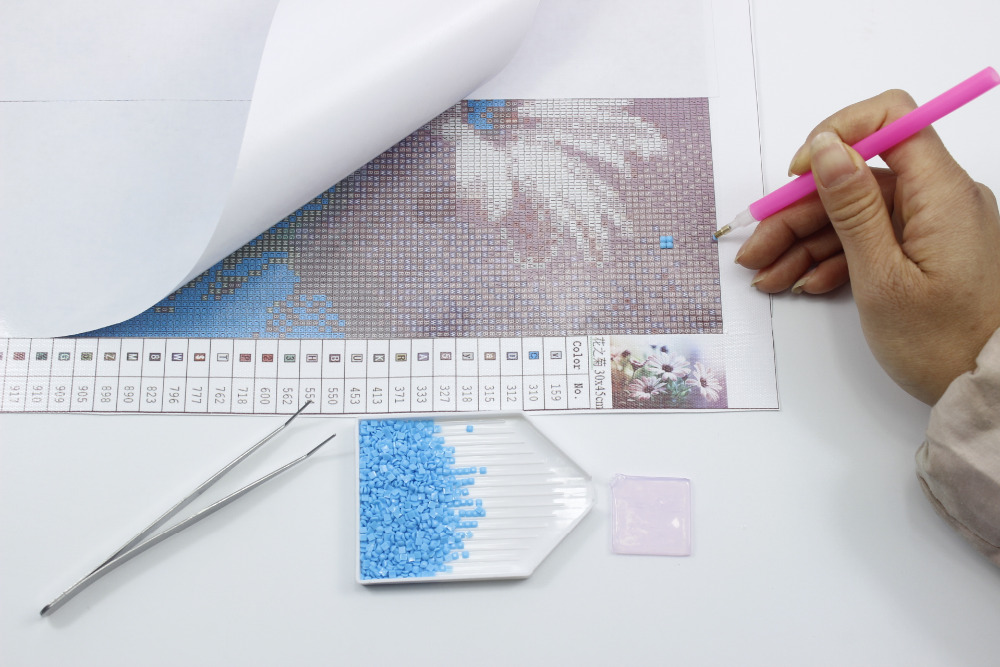 Diy 5D Diamond Rəsm Xaç Dikişi Gecə Diamond Mozaika Tam 3D - İncəsənət, sənətkarlıq və tikiş - Fotoqrafiya 4