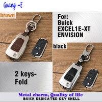 Car styling couverture lampe en cuir + en alliage de Zinc Métal clés sac cas Portefeuille de la chaîne touche lampe partie fois 1 pcs pour Buick/EXCEL1E-XT/ENVISION
