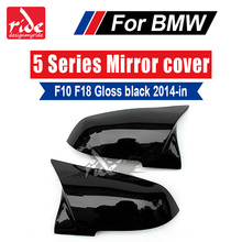M-Style F10 F18 Mirror Covers Cap Decoration For BMW 520i 530i 535i 535GT 550i 550ixD Cover ABS Gloss Black 14-16