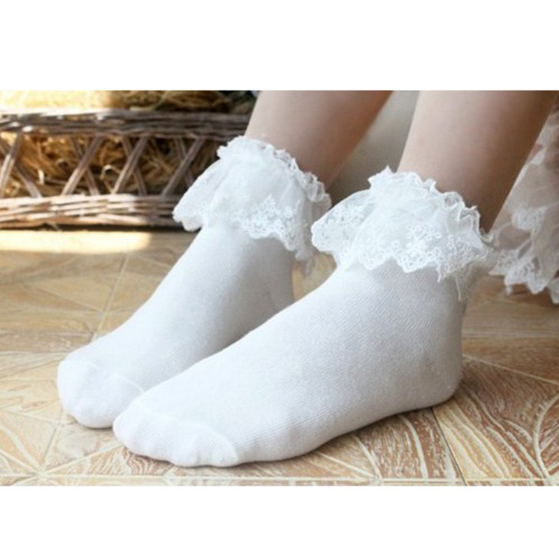 auf Füßen Bilder von Online-Einzelhändler am billigsten Vintage Spitze Rüschen Rüschen Socken Mode Damen Prinzessin ...