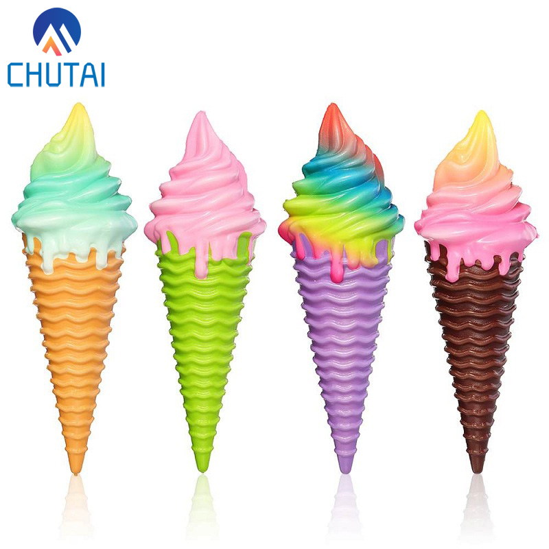Super Jumbo Ice Cream Squishy Slow Rising Kawaii Kids Fun Collection Squeeze Toys Soft Scented Stress Relief Toy 30x10x10 CM
