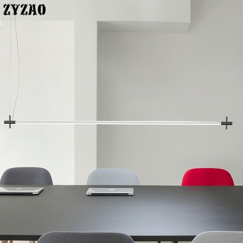 Современная светодиодная лента Подвесная лампа минималистичный дизайнерский подвесной светильник для ресторана столовой подвесной светильник s офисный светильник