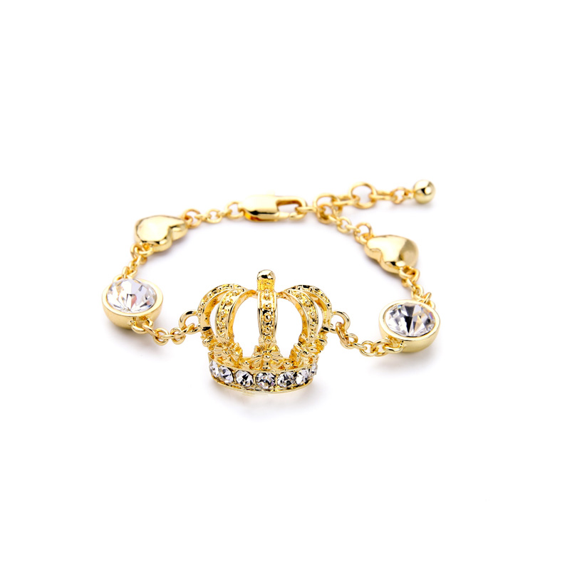 Shining New Gold Color Queen Crown Bracelets for Women Wholesale ...