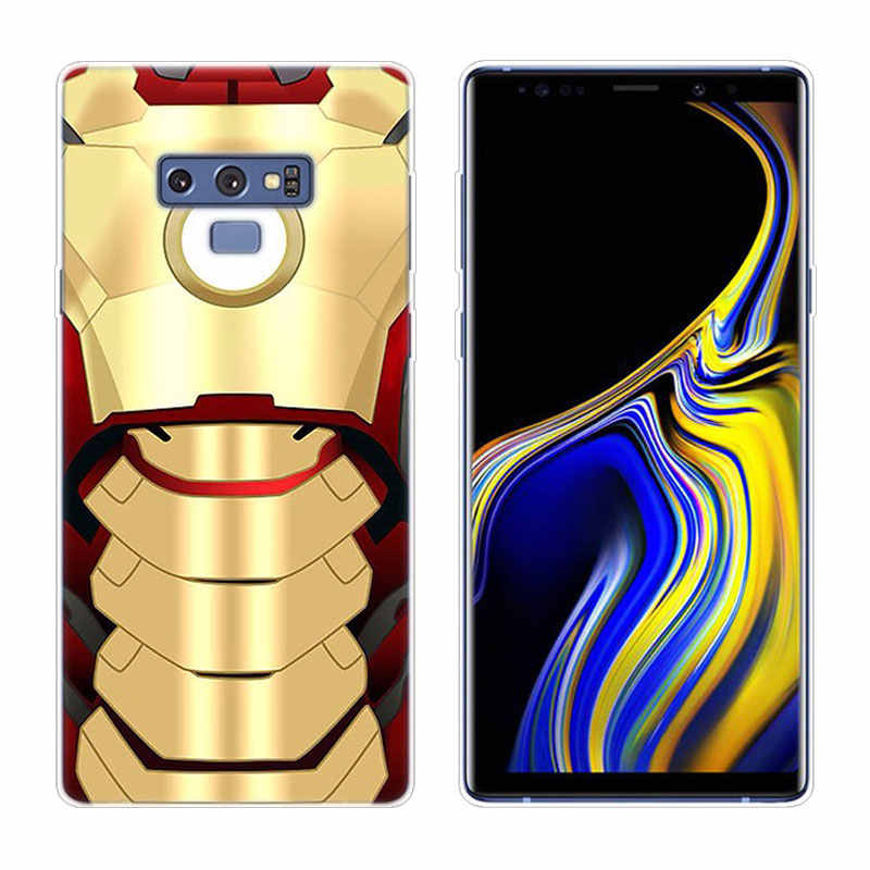 Hot Super Hero Iron Man Silikon Phone Case untuk Samsung Galaxy A80 A70 A60 A50 A40 A40S A30 A20E A2CORE m40 Catatan 10 Plus 9 8 5