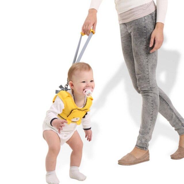 f1ceb2620d3 2018 maman laisses bébé été harnais enfant sécurité apprentissage marche  Assistant infantile marche ceinture enfant gardien