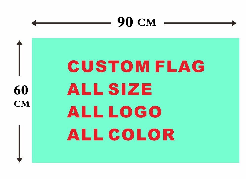 Custom flag 60*90cm Polyester Flag all logo all color royal flag With White Sleeve Metal Gromets