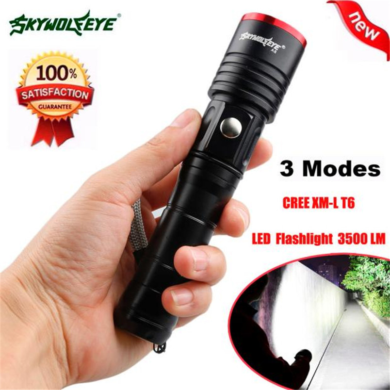 3500LM 3 Modes CREE XML T6 LED AA/18650 Battery Flashlight Torch Lamp NOJ06 high lumen led flashlight 4 2v cree xml t6 2 18650 battery 5 modes focalize flash lamp 2 18650 batteries battery charger