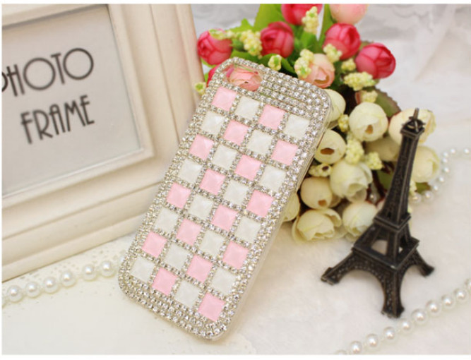For Huawei P7 case rhinestone mobile phone cases Transparent case protective cover colorful glossy case 20