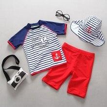 Child Swimwear Two Pieces Rash Guards Trunks Set Boys Swimsuits Kids Swimming Suit Beach Clothes Boy Sport Swimsuit Bathing
