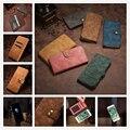 2 em 1 Magnético Destacável Genuíno Titular Slots De Cartão de Luxo cluth carteira case de couro flip capa para iphone 5/6/6 plus 7/7 plus