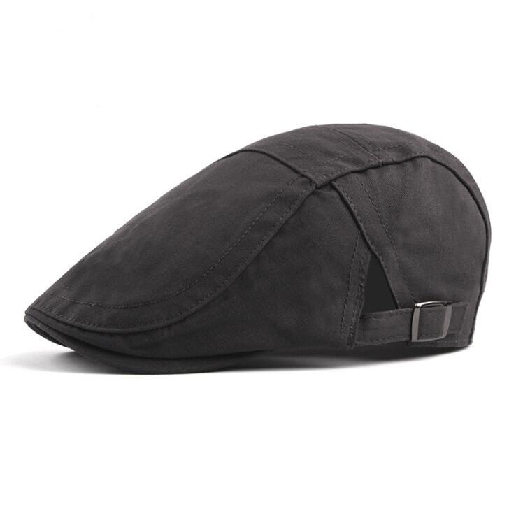 Kualitas tinggi Musim Panas Pria kapas Topi Topi Wanita Baret Topi Gaya  inggris unisex visor Datar 19067b6fe6