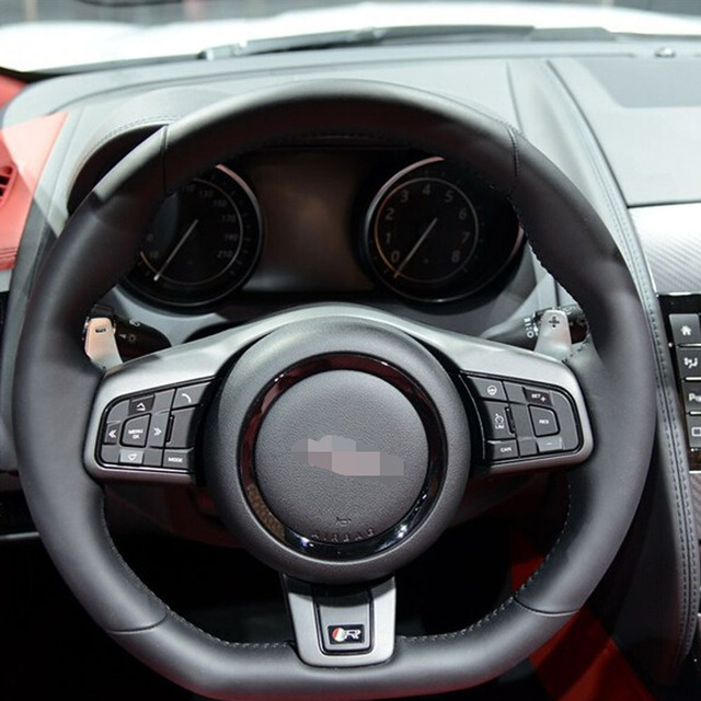 Interior Accessories ABS Chrome For Jaguar XE XF F PACE Fpace F Pace  Steering Wheel
