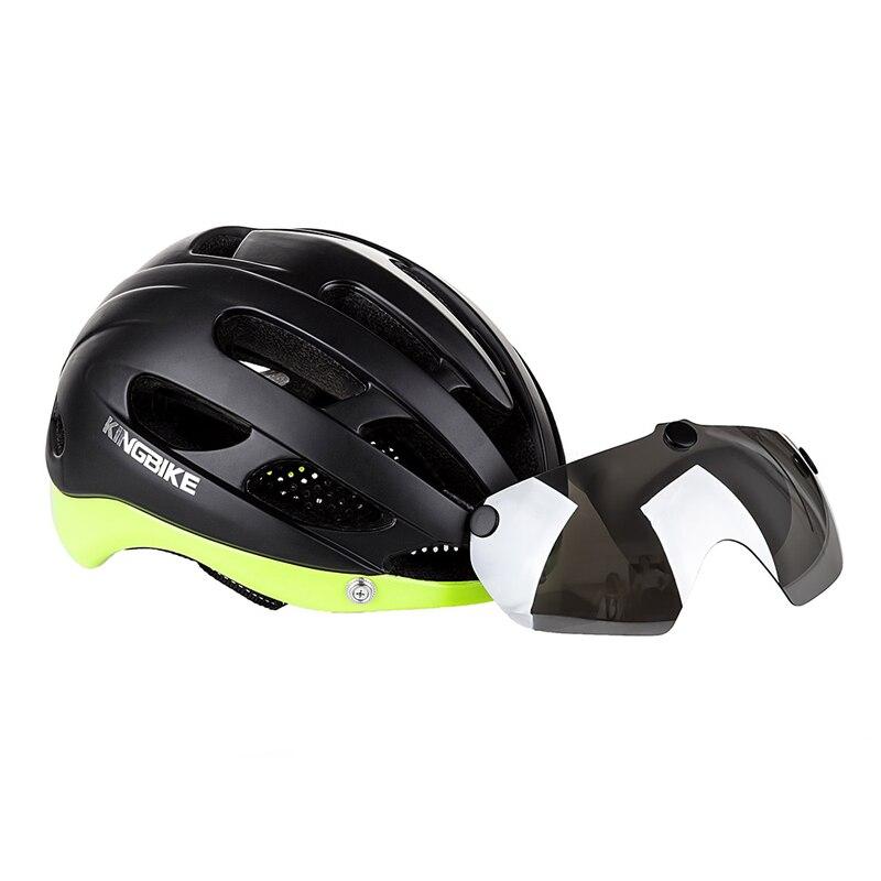 KINGBIKE Cycling helmet Integrally-molded road Mountain bike helmet men women MTB cycling helmets bicycle goggles helmets rockbros tail light bike helmet men women bicycle helmet night cycling mtb road mountain bike usb rechargeable helmets k6107
