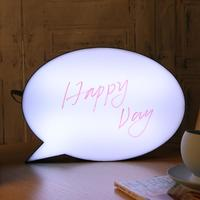 LED Message Handwriting Night Lamp Letter Light Box Speech Bubble Shape Writing Board With 3Colors