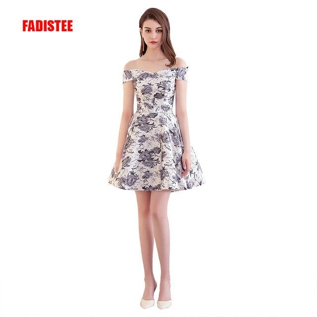 437821f37a New design pattern elegant Prom party Dresses Vestido de Festa A-line boat  sleeves lace-up satin black short dress