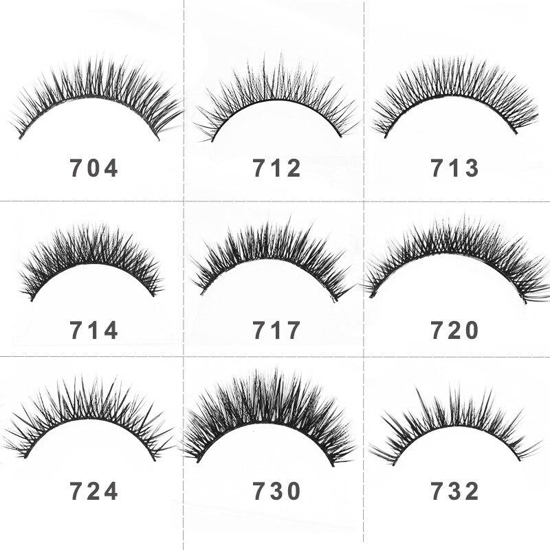 False Eyelashes Demi Wispiness Cilios De Mink Lashes 3D Faux Cils Natural Mink Fan Eyelash Extensions Handmade Lashes HP1149