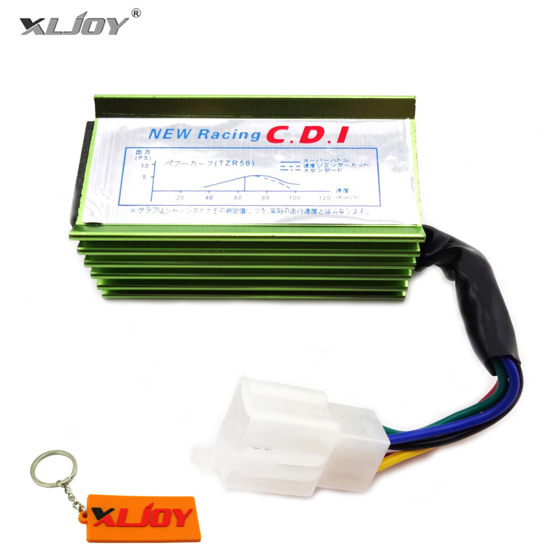 XLJOY 5 Pin AC Racing CDI Green For 50cc 70cc 90cc 110cc 125cc 140cc 150cc 160cc Chinese Pit Dirt Bike Motorcycle Motocross
