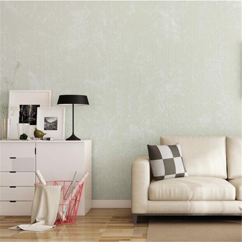 Beibehang papel de parede Modern minimalist retro wallpaper bedroom living room became plain yarn non-woven wallpaper